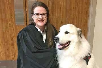 Therapy dog allowed in civil jury trial