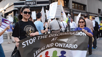 Legal Aid lawyers rally for collective bargaining rights